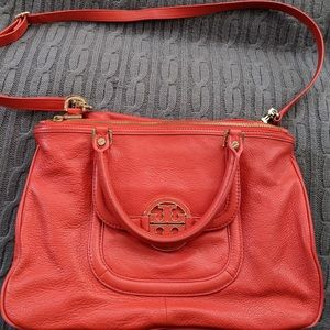 Tory Burch poppy red large cross body